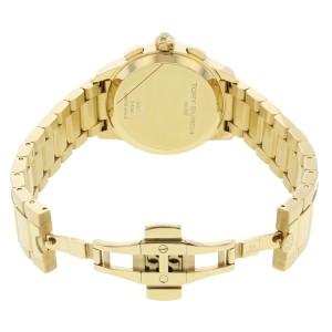 Tory Burch Collins Yellow Gold Tone Cream Dial Steel Quartz Ladies Watch TB1250