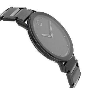 Movado Sapphire Black Dial Analog PVD Thin Steel Quartz Mens Watch 0606882