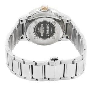 Shinola The Gail Steel Silver Guilloche Dial Date Quartz Ladies Watch 20052432