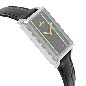 Gomelsky Shirley Fromer Steel Green Black Diamond Dial Womens Watch G0120023383