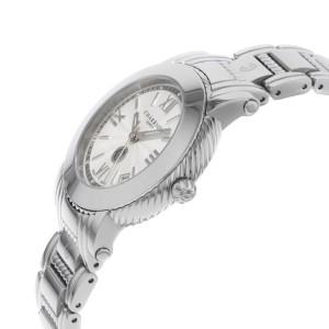 Charriol Parisii Silver Guilloche Steel Quartz Ladies Watch P33S.P33.001
