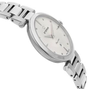Eterna Grace Steel Diamond  Silver Dial Quartz Womens Watch 2560.54.66.1713