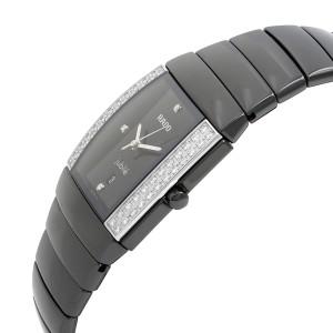Rado Sintra Jubile Ceramic Diamond Black Dial Ladies Quartz Watch R13617712