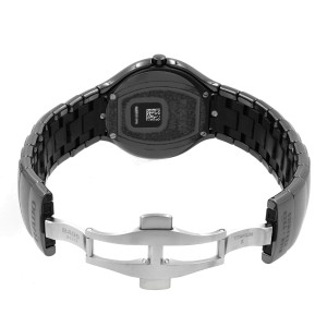 Rado True Active Ceramic Black Dial Luminous Markers Quartz Mens Watch R27677172