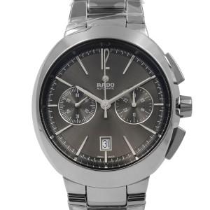 Rado D-Star Ceramic Gray Silver Dial Chronograph Automatic Mens Watch R15198102