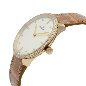 Gomelsky Audry Steel Gold Plated Diamond White Dial Ladies Watch G0120112280