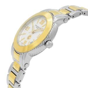 Charriol Parisii Steel Plated White Roman Dial Quartz Ladies Watch P33SY1.007