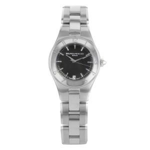 Baume et Mercier Linea Black Dial Stainless Steel Quartz Ladies Watch 10010