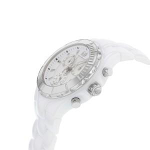 Technomarine Cruise White Ceramic Steel Silver Dial Quartz Unisex Watch 110030C