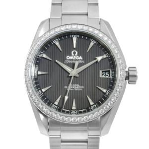 Omega Seamaster Aqua Terra Steel Diamond Black Dial Watch 231.15.39.21.51.001