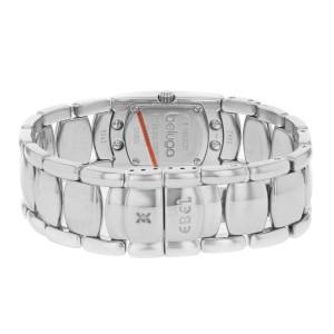 Ebel Beluga Manchette Steel Silver Stripe Dial Steel Quartz Ladies Watch 9057A21