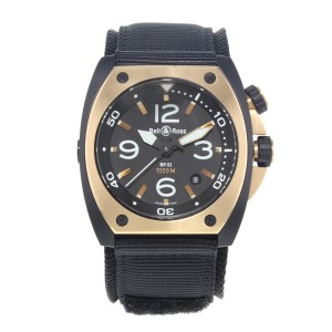 Bell And Ross Marine Steel PVD 18K Rose Gold Automatic Watch BR02_PINKGOLD_CA