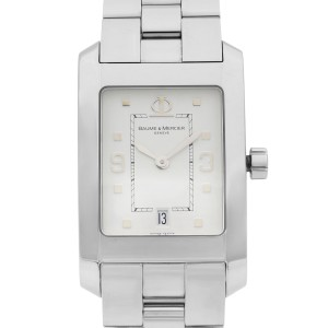 Baume et Mercier Hampton Stainless Steel White Dial Quartz Mens Watch MOA08604
