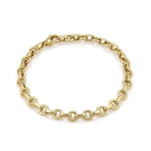 Tiffany & Co. 18k Yellow Gold Oval & Round Link Chain Bracelet
