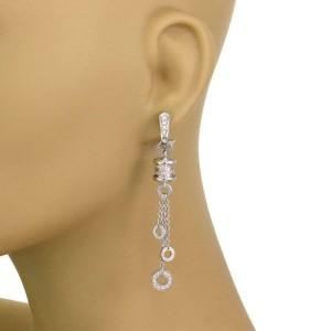 Bvlgari B Zero.1 One Carat Diamonds 18k White Gold Dangle Tassel Earrings