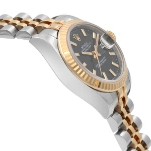 Rolex Datejust 26 Steel 18k Rose Gold Black Dial Automatic Ladies Watch 179171