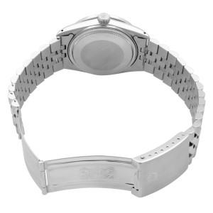Rolex Datejust Steel 1.20 Cttw Custom Teal Dial Mens 1983 Watch 16014