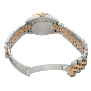 Rolex Datejust Steel Rose Gold Custom 1 Cttw Diamond Bronze Dial Watch 179171