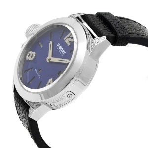 U-Boat Classico Steel Diamond 0.23cttw Blue Dial Automatic Ladies Watch 7077