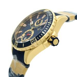 Ulysse Nardin Maxi Marine Diver 18K Rose Gold Blue Automatic Watch 266-10-3-93