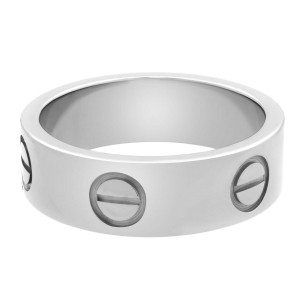 Cartier 18K White Gold Love Ring Size 50 US 5.25
