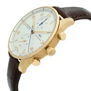 IWC Portugueser 18K Rose Gold Arabic Silver Dial Automatic Mens Watch IW371480