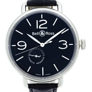 Bell & Ross WW1 Power Reserve Steel Black Dial Automatic Watch BRWW197-BL-ST/SCR
