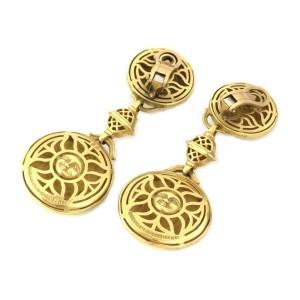 Kieselstein Cord 18k Yellow Gold Double Sun Face Clip On Dangle Earrings