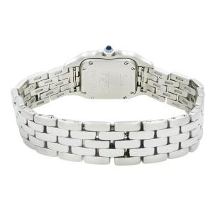 Cartier Panthere 22mm Steel Silver Roman Dial Quartz Ladies Watch W25033P5