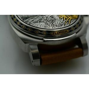 Panerai Luminor Sealand Florida Panther Steel Silver Dial Watch PAM00845