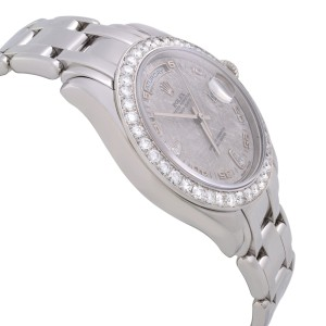 Rolex Masterpiece Platinum Day Date Diamond Bezel Meteorit Dial Mens Watch 18946