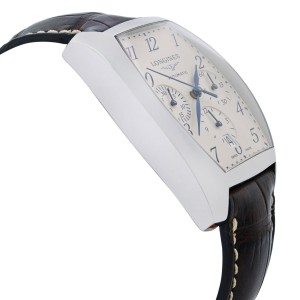 Longines Evidenza Steel Silver Guilloche Dial Automatic Mens Watch L2.643.4.73.4