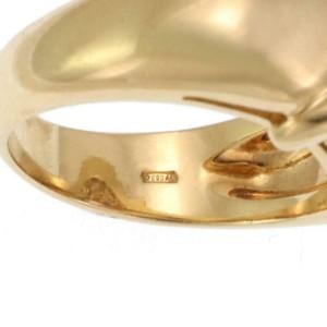 Estate 1.30ct Diamond Emerald 18k Yellow Gold Door Knocker Ring Size 6.75