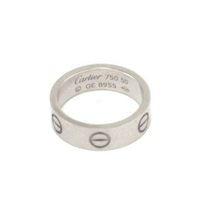 Cartier Love 18k White Gold 5.5mm Wide Band Ring Size 50-US 5.25 w/Cert