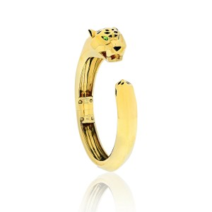 Cartier 18K Yellow Gold Panthere De Cartier Bracelet Size 18