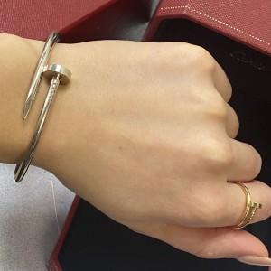 Cartier Juste Un Clou 18K White Gold Bracelet Size 18