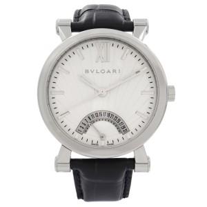 Bvlgari Sotirio Retrograde Steel White Dial Automatic Mens Watch SB42SDR