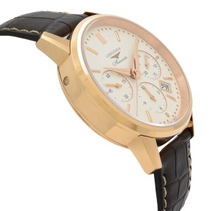 Longines Heritage Chronograph 18k Rose Gold Cream Dial Mens Watch L2.749.8.72.2