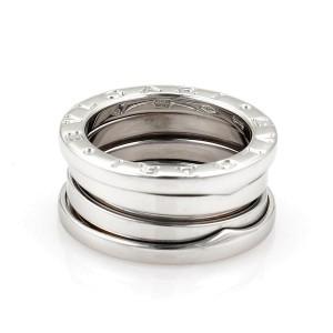 Bvlgari Bulgari B Zero-1 18k White Gold 9mm Wide Band Ring Size 47-US 4