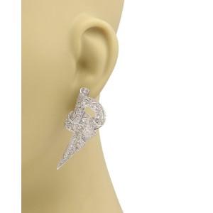 Art Deco 1.50ct Diamond Platinum Milgrain Fancy Design Pos Clip Earrings