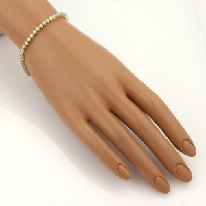 3ct Diamond 14k Yellow Gold Tennis Bracelet