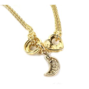 Balestra Diamond 18k Yellow Gold 3 Style Pendant 2 Woven Chain Necklace
