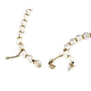 Boucheron 18k Yellow Gold Rock Crystal Graduated Bead Necklace