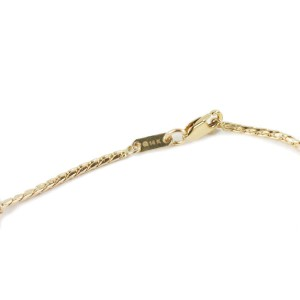 14k Yellow Gold 17 Dangling Multi-Charms Chain Bracelet