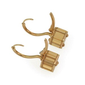 Louis Vuitton Emprise Citrine 18k Yellow Gold Cube Dangle Earrings