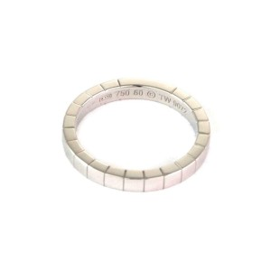 Cartier Lanier 18k White Gold 3mm Band Ring Size EU 60 - US 9.25