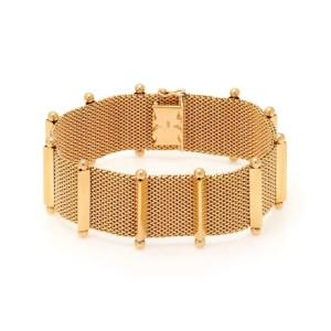 18k Rose Gold 23.5mm Fancy Wide Mesh Flex Bracelet