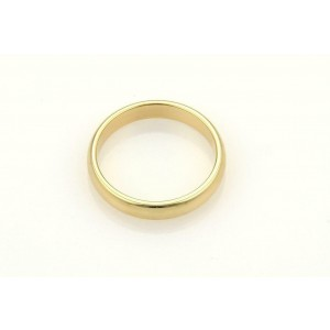 64365 Tiffany & Co. Men's 18k Yellow Gold 4.5mm Dome Wedding Band Ring Size 8.5