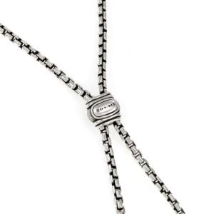 64633 David Yurman Renaissance Diamond Sterling Silver Tassel Pendant Necklace