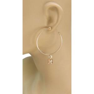 Bvlgari Bulgari B Zero-1  18k Yellow Gold Dangle Hoop Earrings